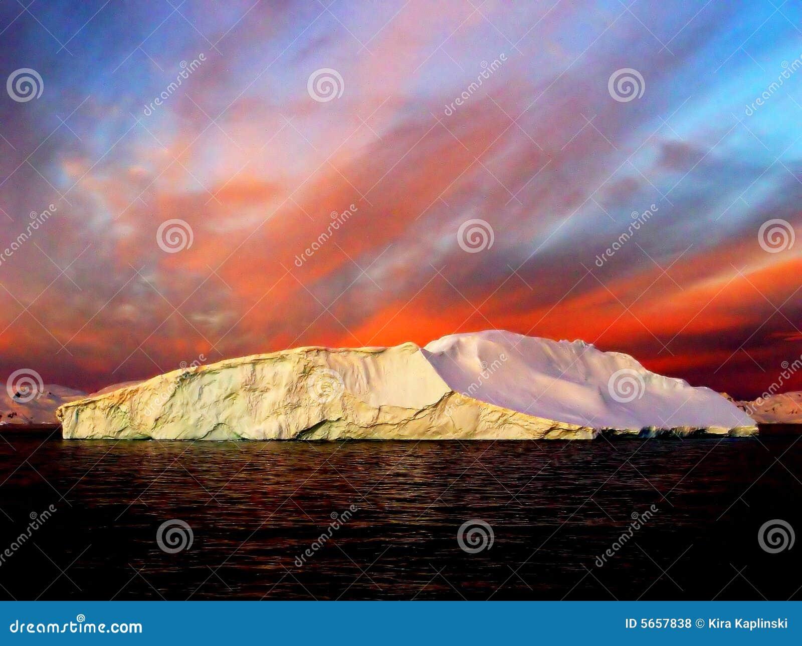 Lever de soleil, Antarctique