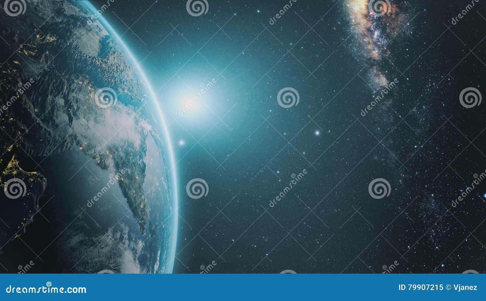 Lever de soleil au-dessus de la terre
