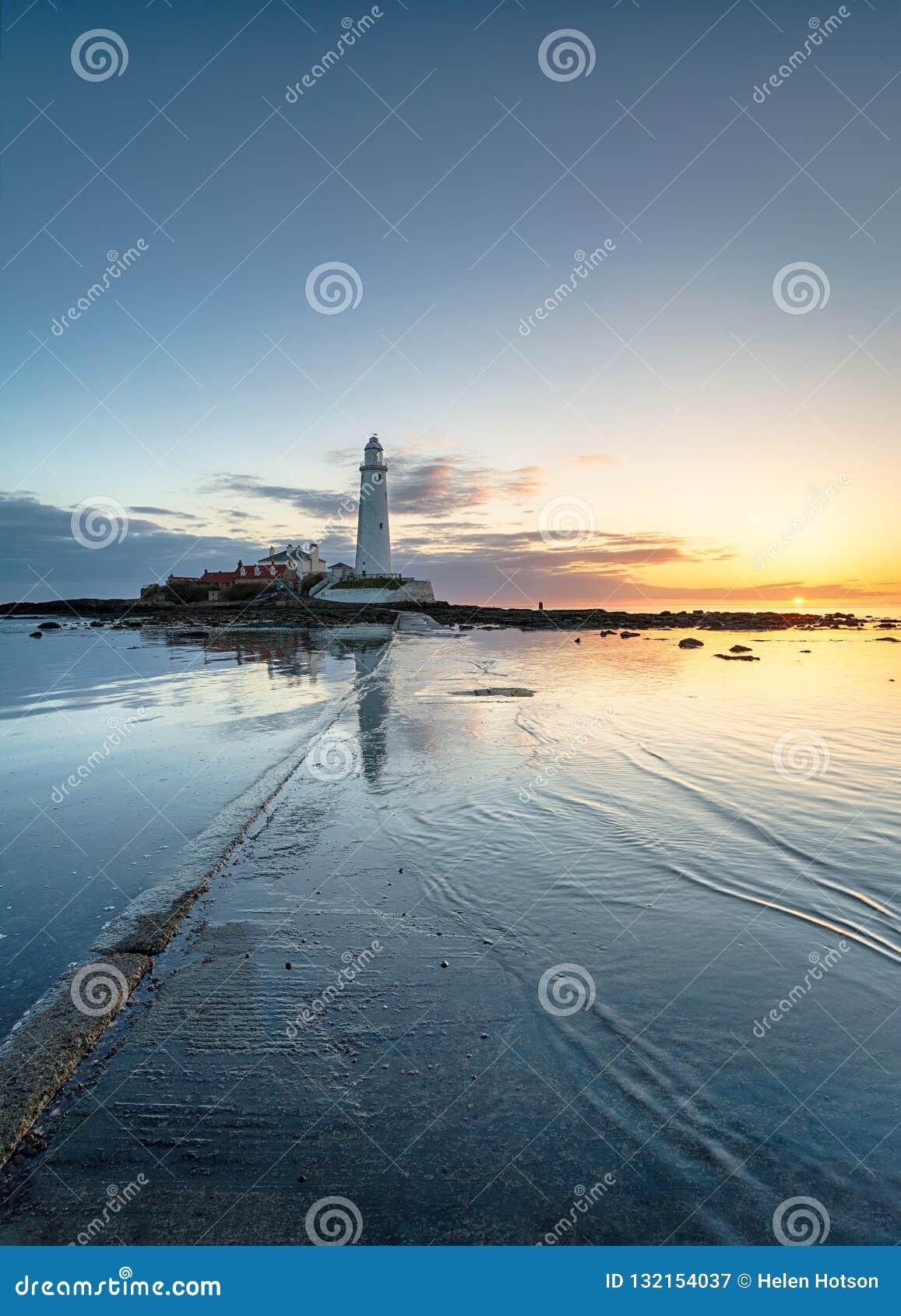 Lever de soleil au-dessus de Whitley Bay