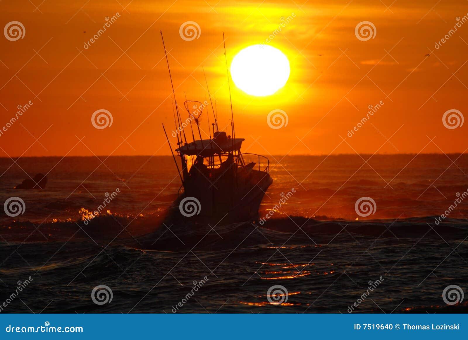 Lever de soleil de pêche