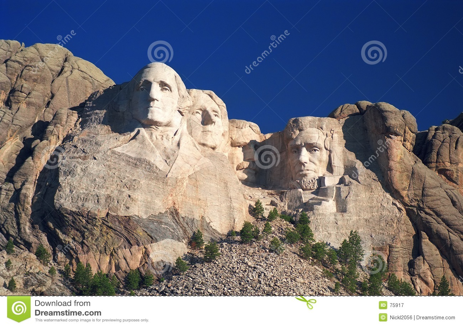 Lever de soleil de Rushmore de support