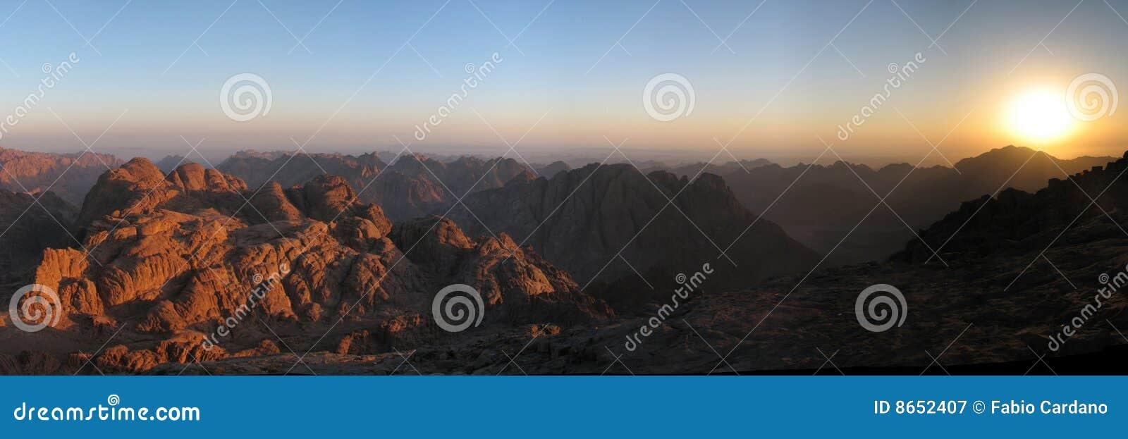 Lever de soleil de Sinai