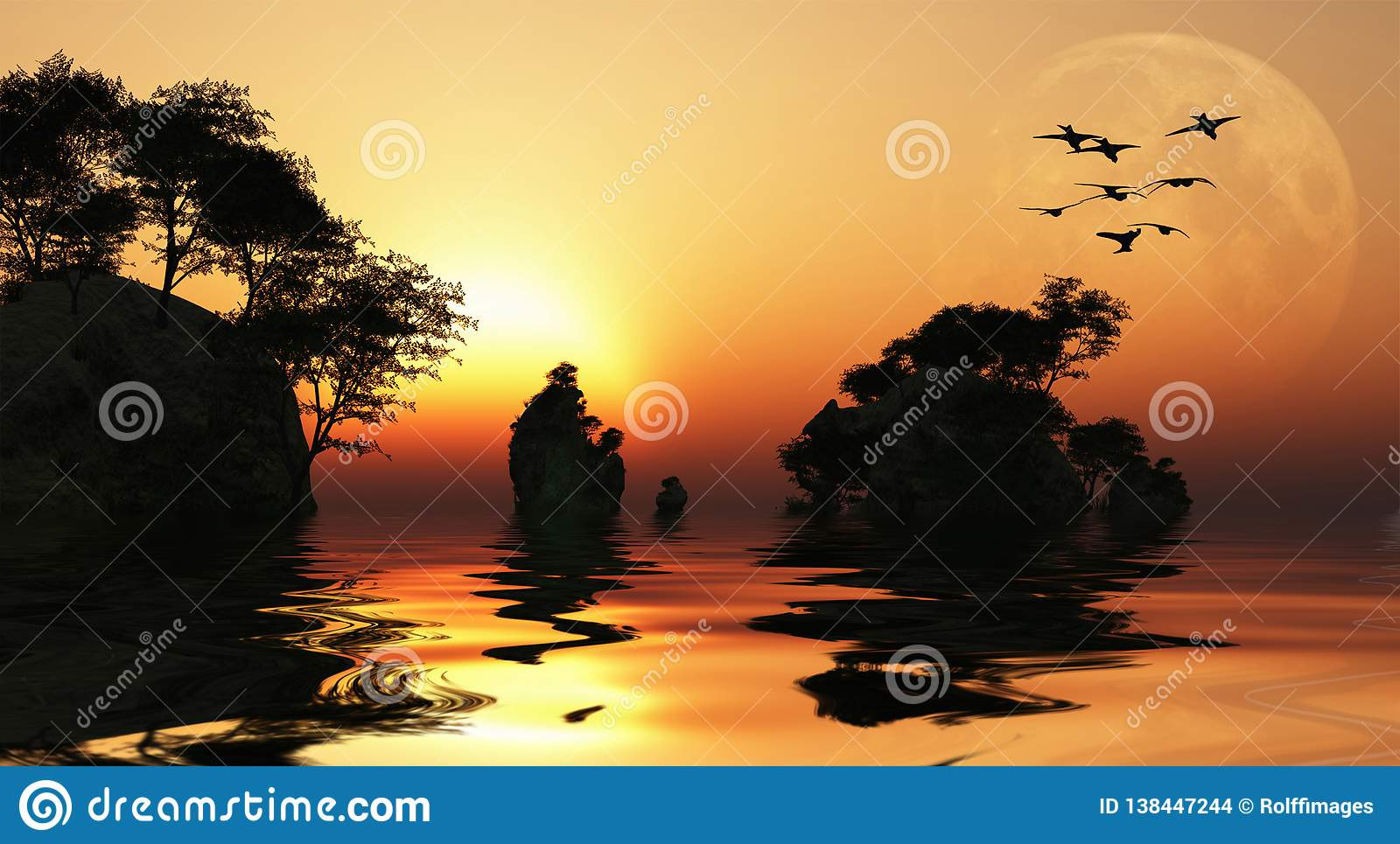 Lever de soleil de l Asie