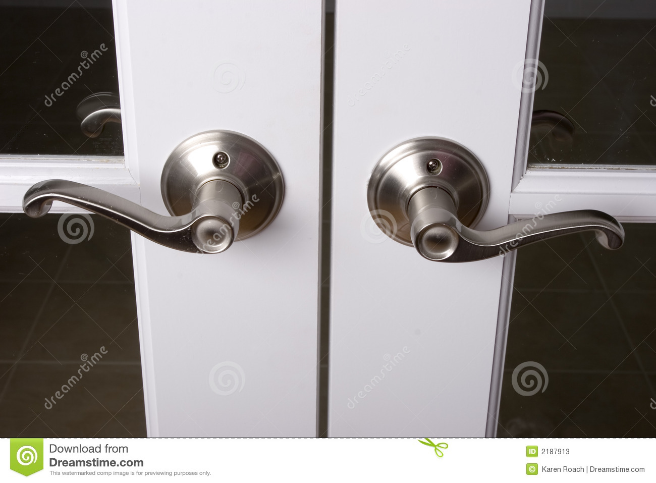 Lever Door Handles Stock Image Image Of Lock Wood