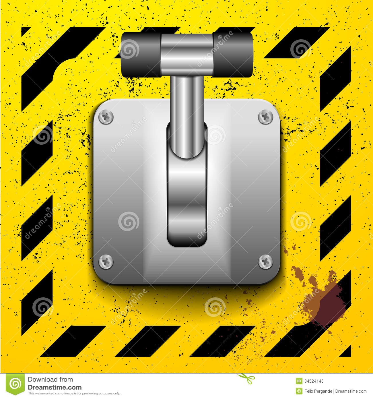 Operator Control Levers Clip Art : Lever switch stock vector image of electronic part