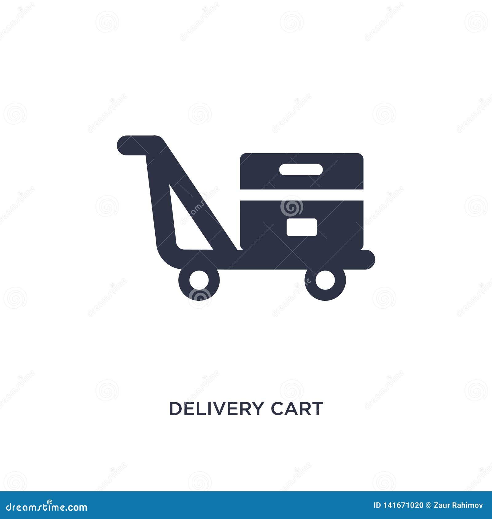 Leveransvagnssymbol på vit bakgrund Enkel beståndsdelillustration från emballage- och leveransbegrepp