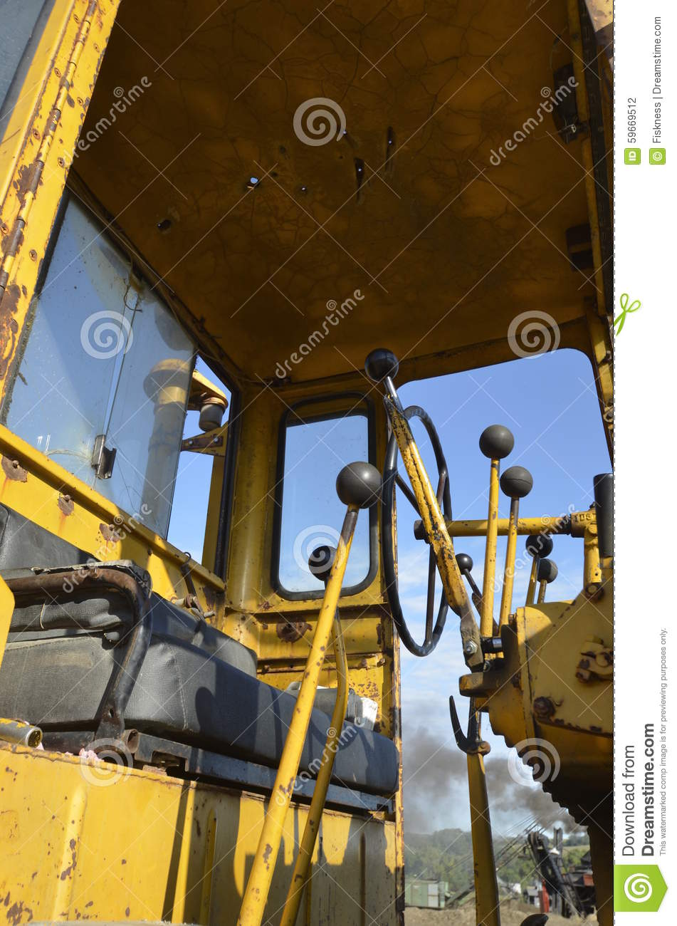 Levers of a road grader stock photo  Image of grader - 59669512