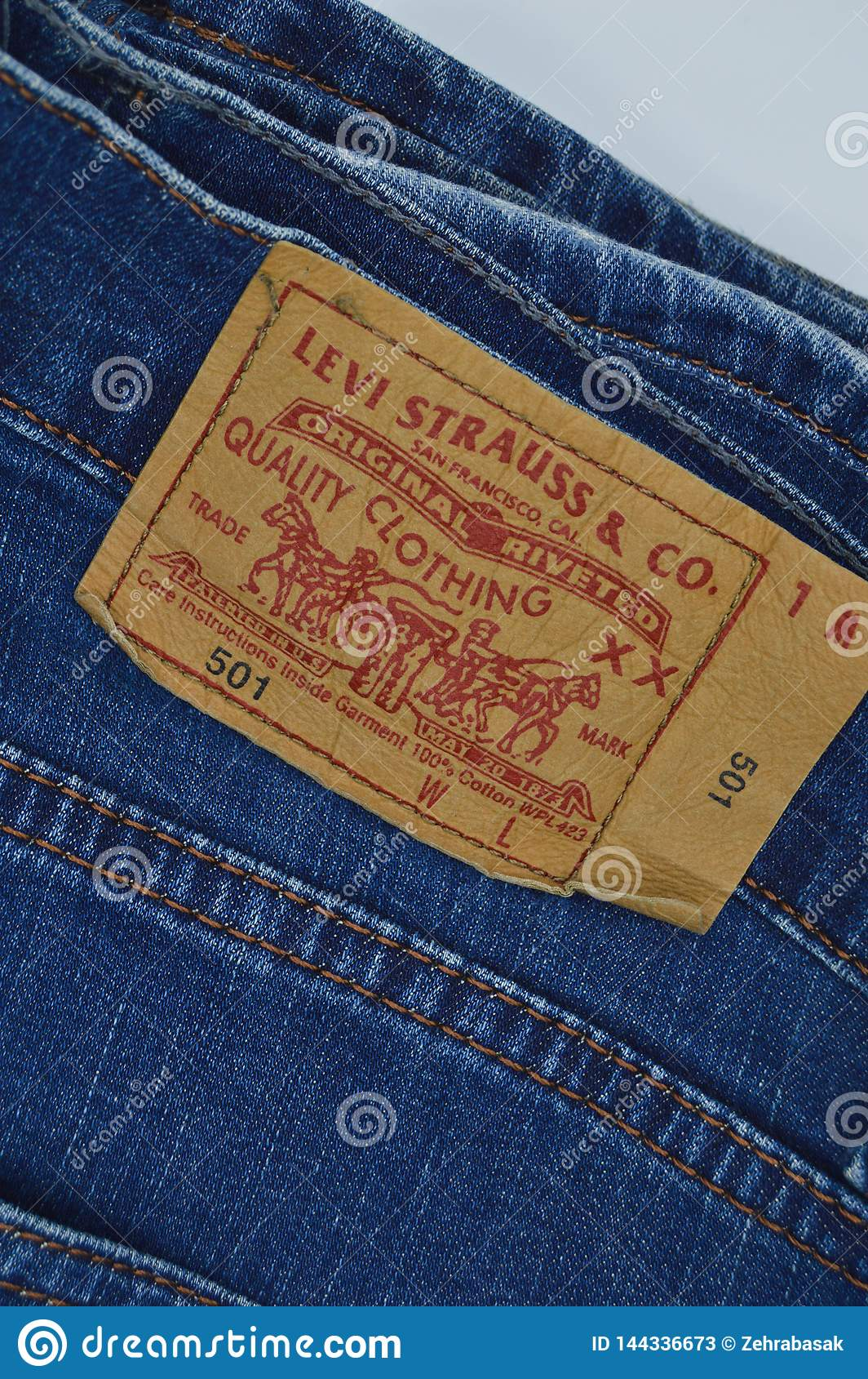 a6340441 Levi Strauss 501 label editorial stock photo. Image of clothing ...