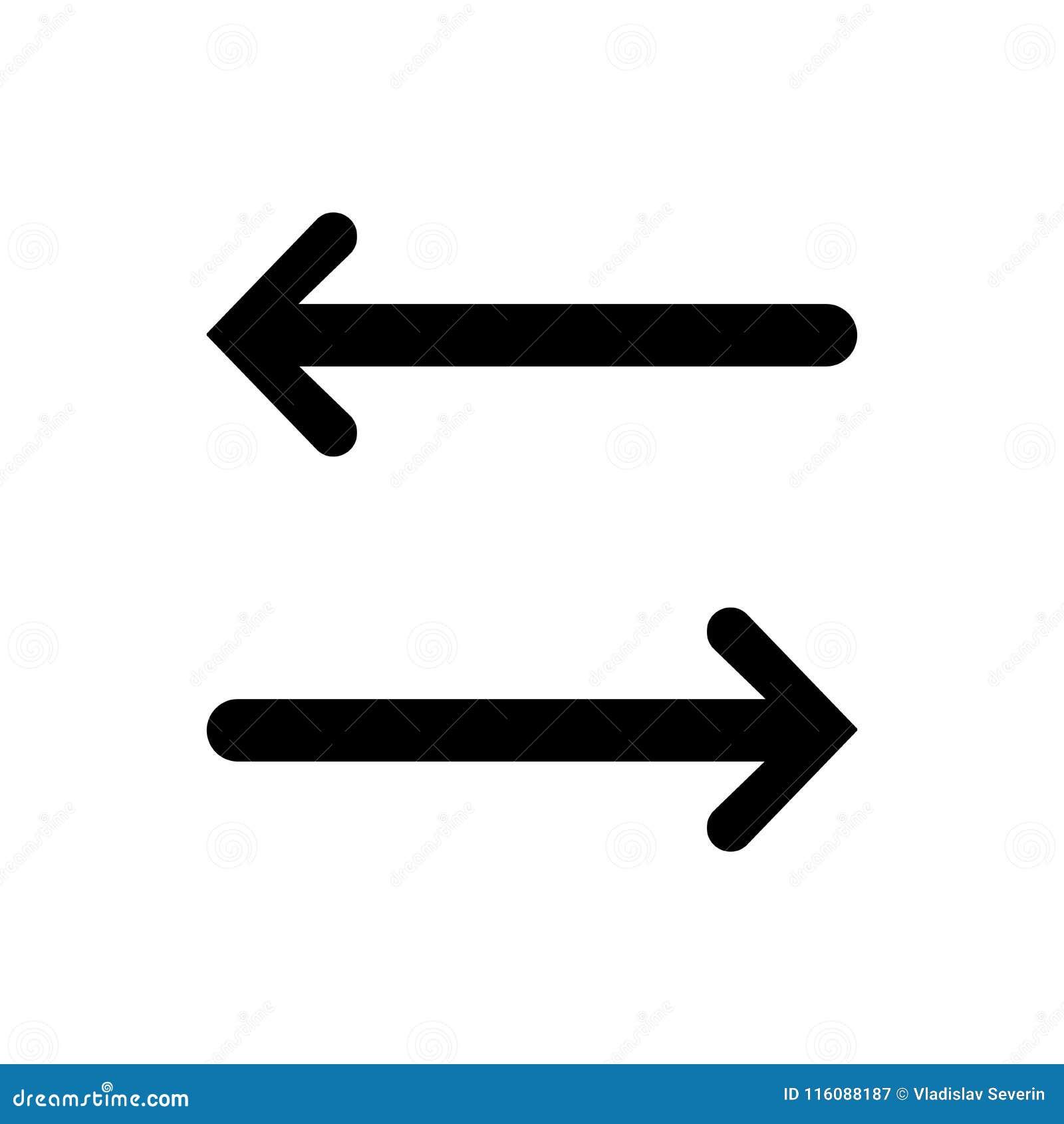 Lewa prawej strzała ikona