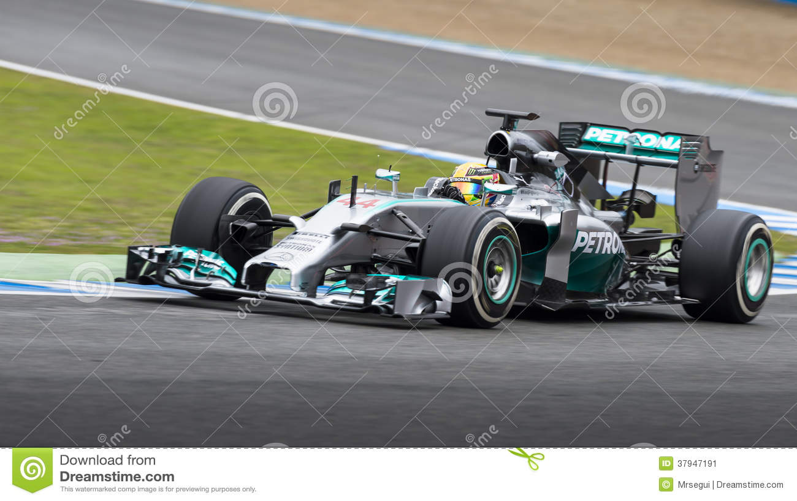 Lewis Hamilton 2014 Formula 1 Editorial Photo Image