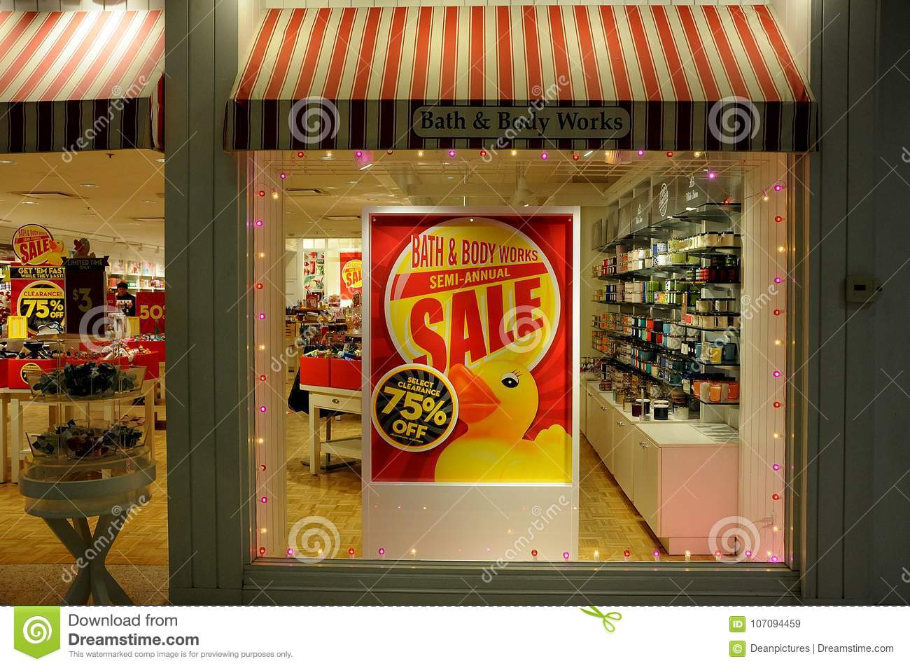75  sale at bath and body works