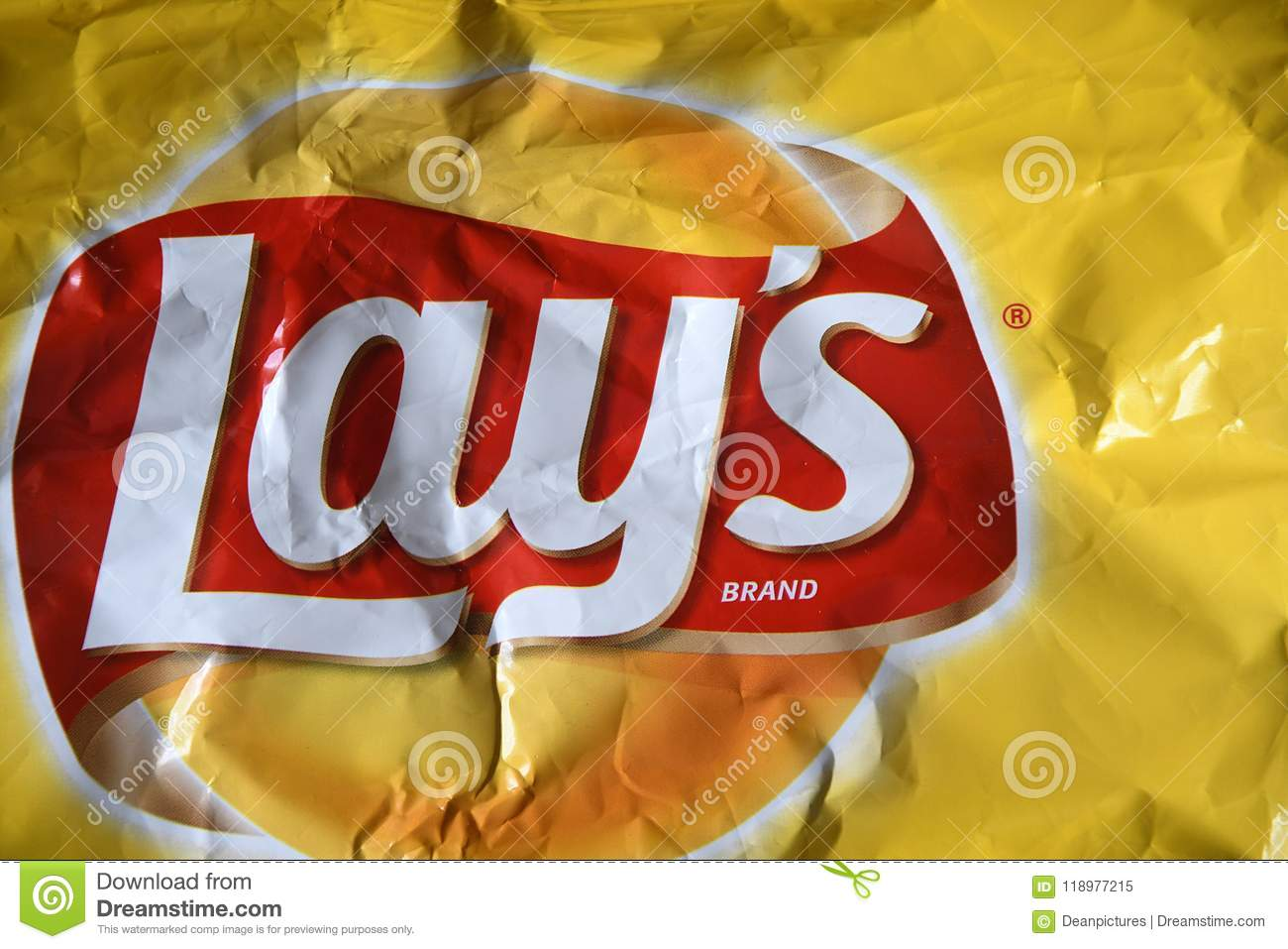 Lays Classice Family Size Potato Chips Editorial Image Image Of