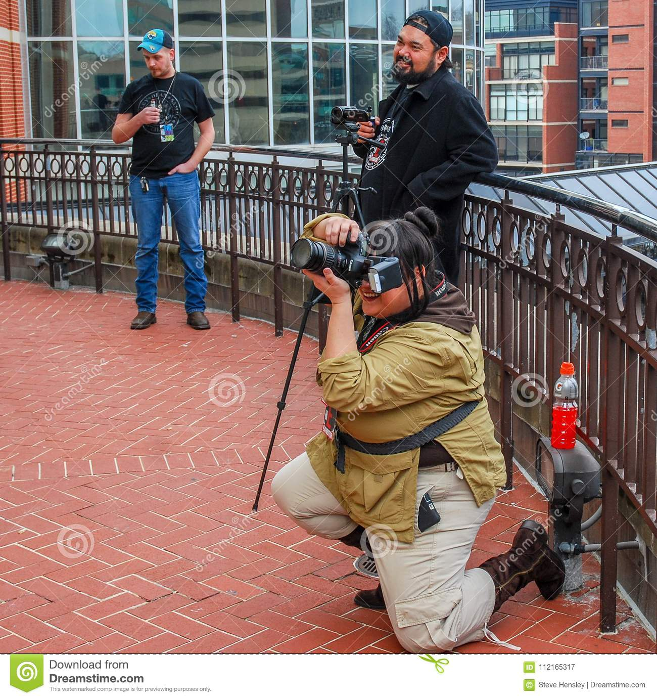 Lexington, Ky US - March 11, 2018 - Lexington Comic & Toy Con Photographers snap pictures of cosplayers as they pose