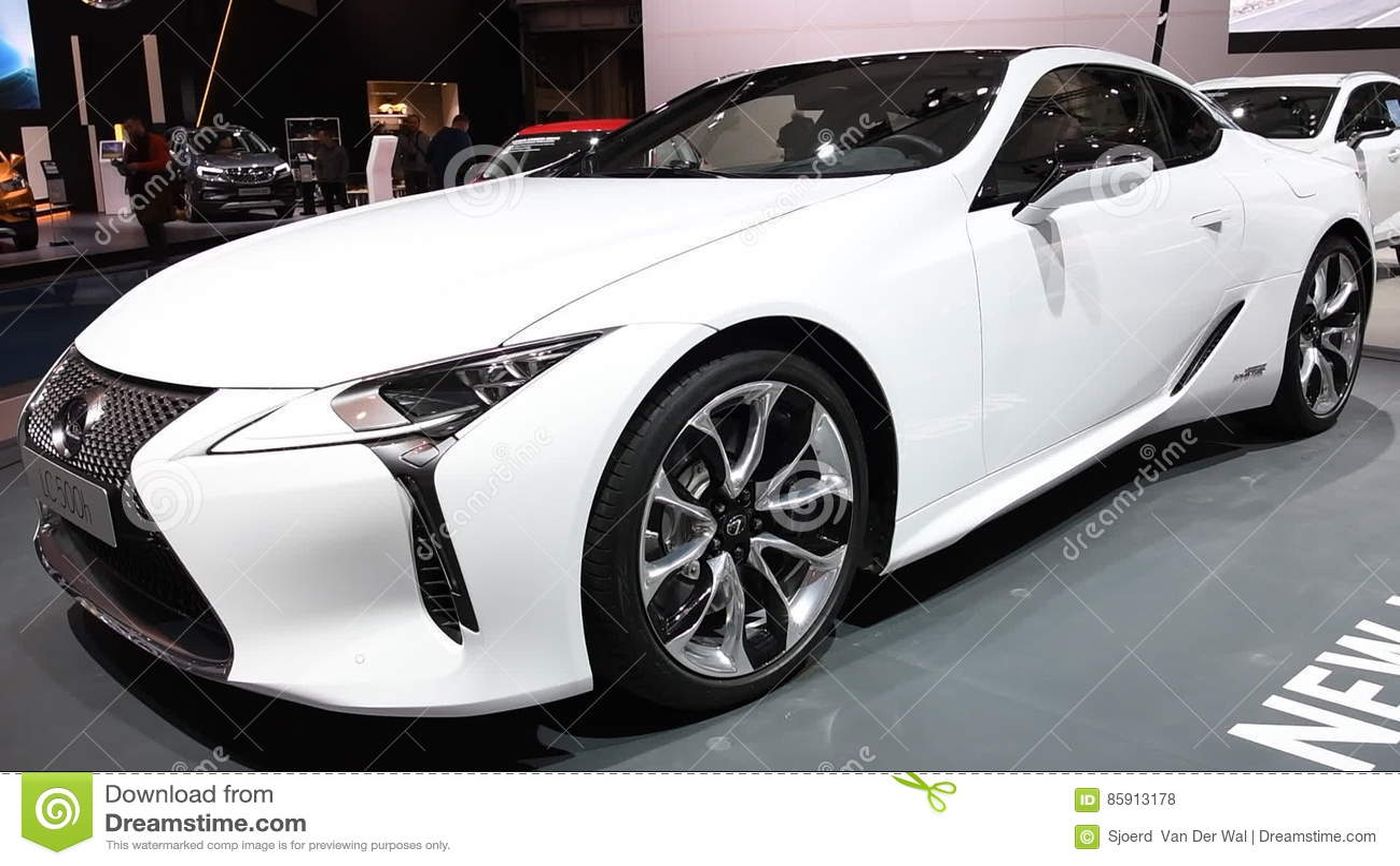 Lexus LC500h Hybrid Luxury Sports Car Stock Footage   Video Of Display,  Lexus: 85913178
