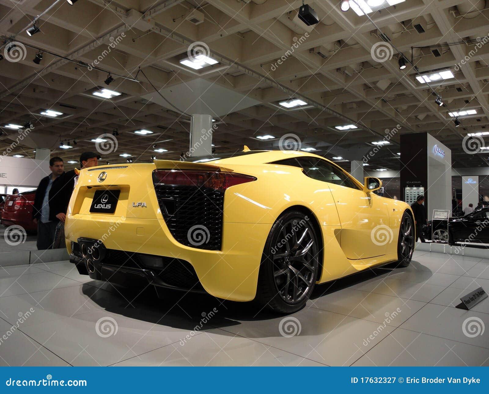 Lexus LFA Speedy Car On Display At Auto Show Editorial Photography - Car show photography