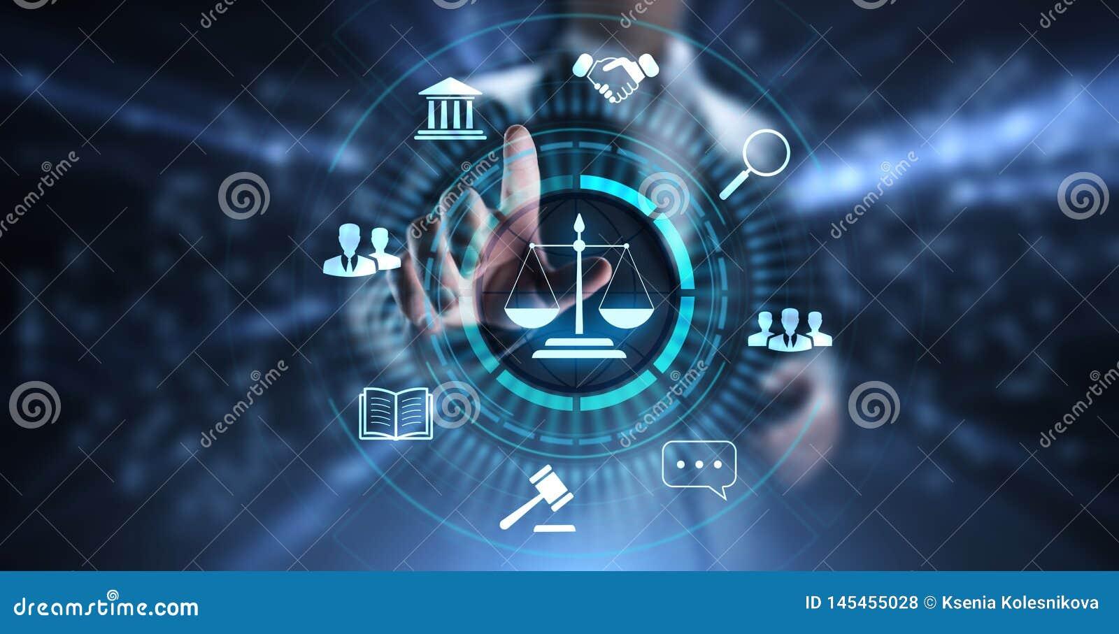 Ley laboral, abogado, abogado en la ley, concepto del negocio del asesoramiento jur?dico en la pantalla