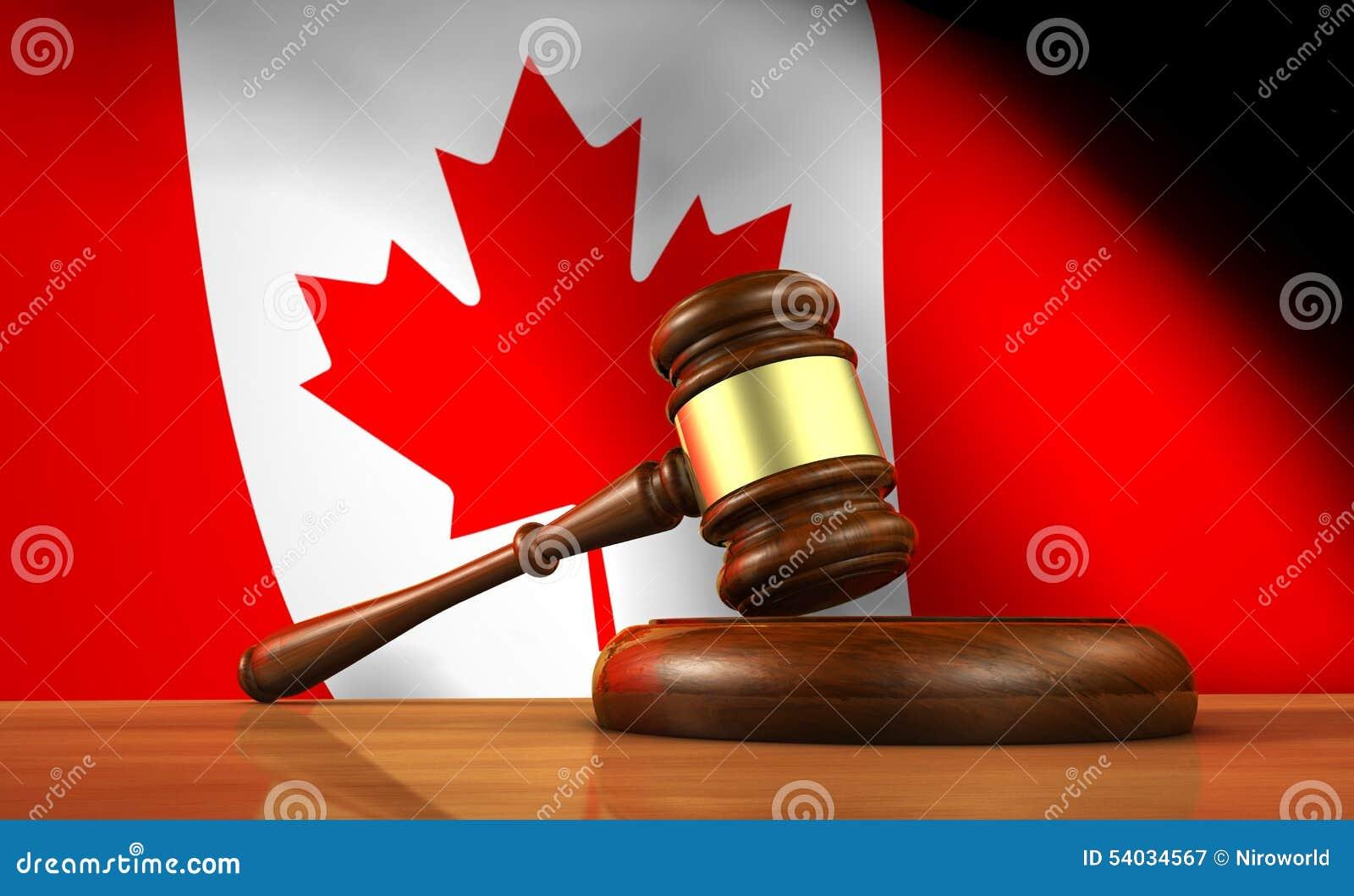 Ley y justicia canadienses Concept