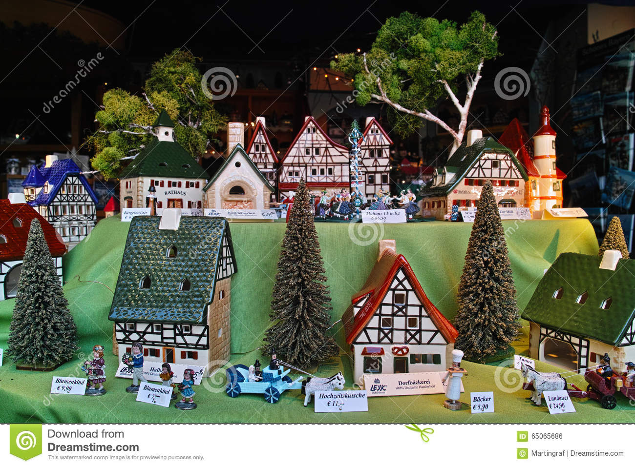 Hand Crafted German Ceramic Houses