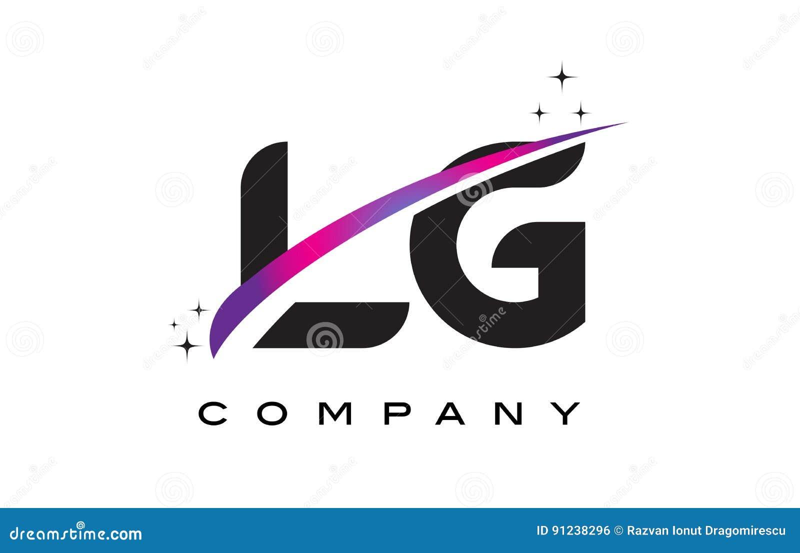 Lg l g black letter logo design with purple magenta swoosh stock download comp altavistaventures Choice Image