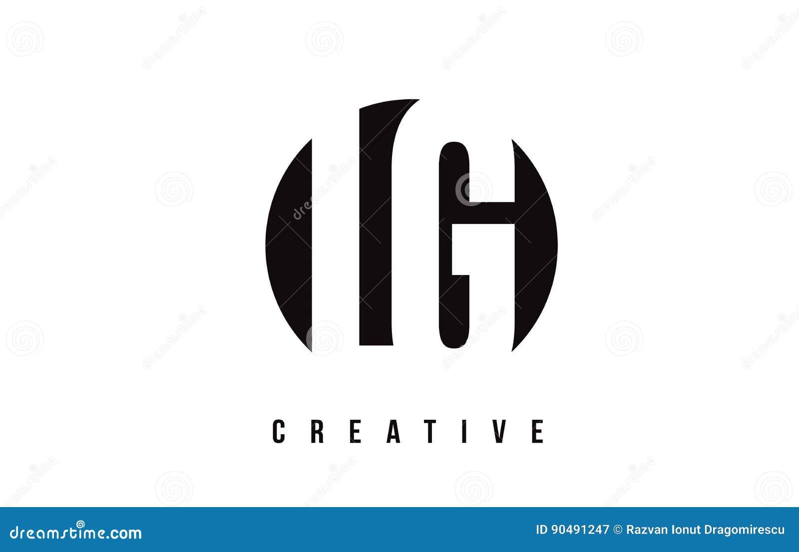 LG L G White Letter Logo Design With Circle Background