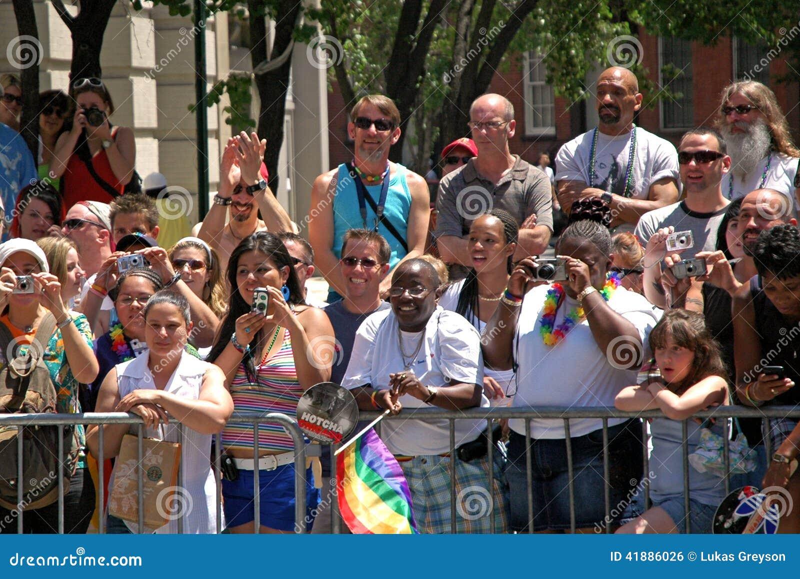 LGBT同性恋自豪日3月在曼哈顿
