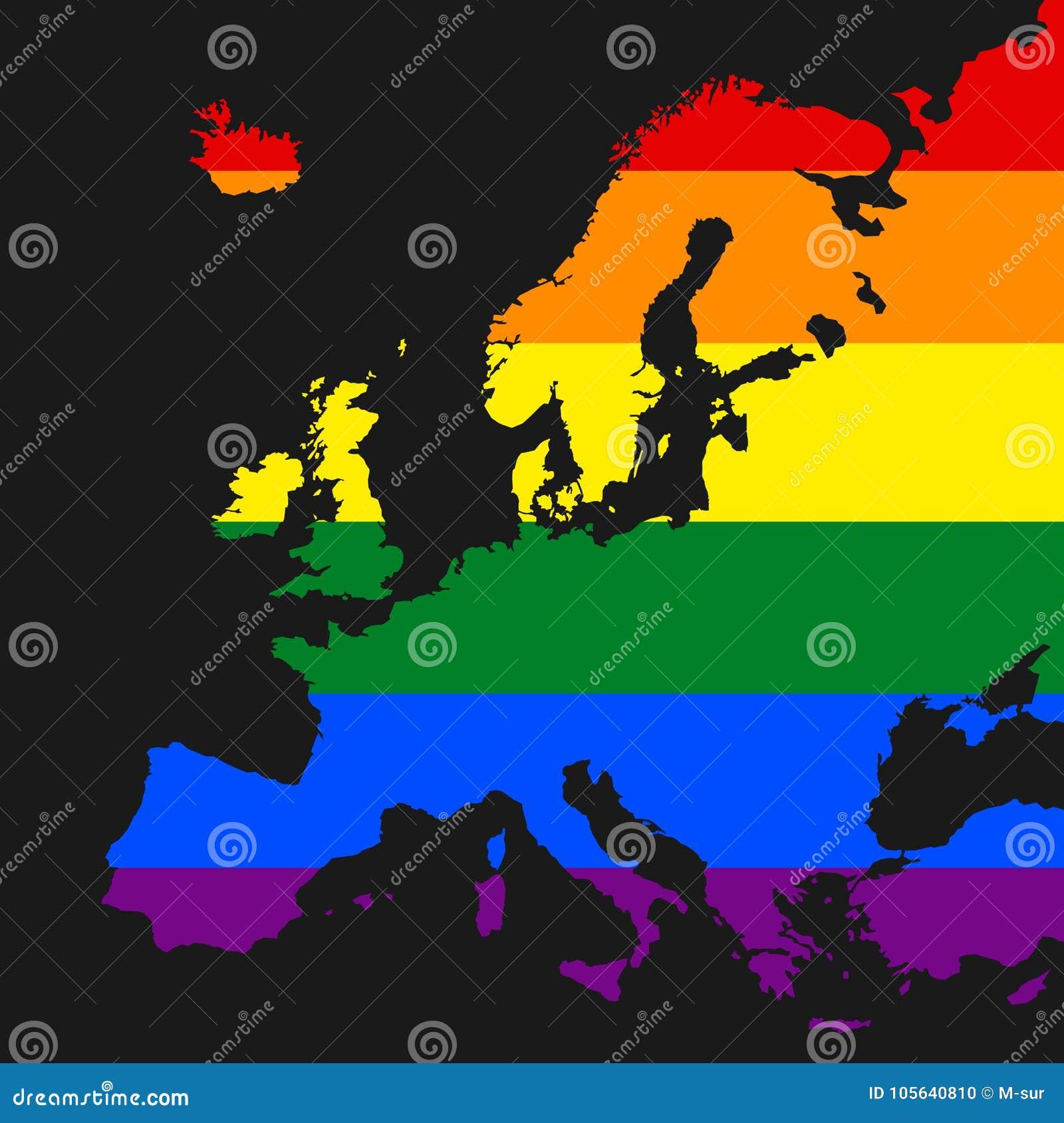 LGBT bög och lesbisk kvinna Europa