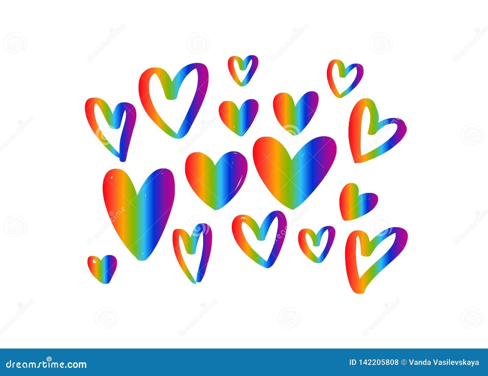 LGBT flag against homosexual discrimination. Vector hand drawn