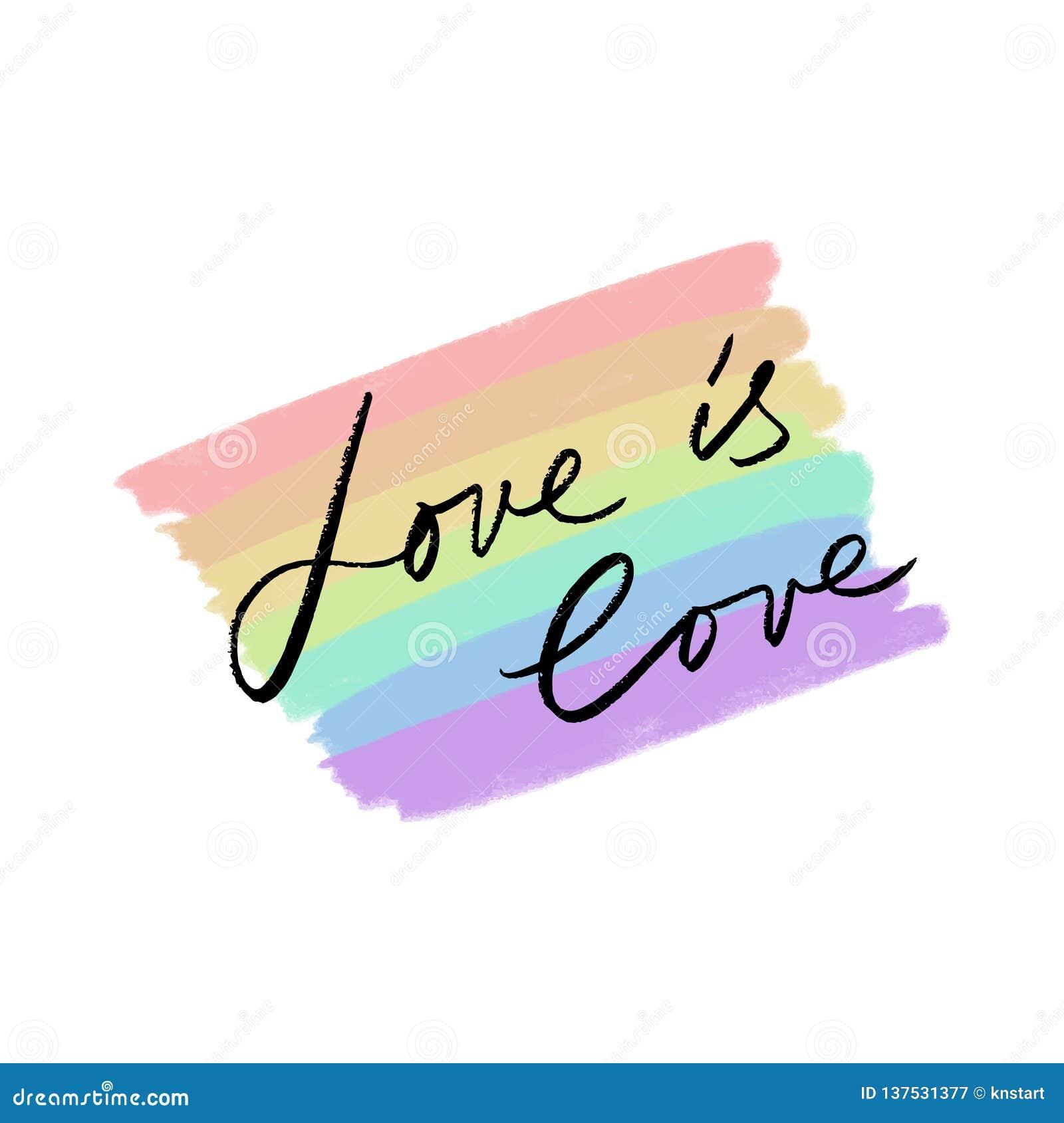 LGBT-hjärtaflagga Utdragna färger för hand av regnbågen