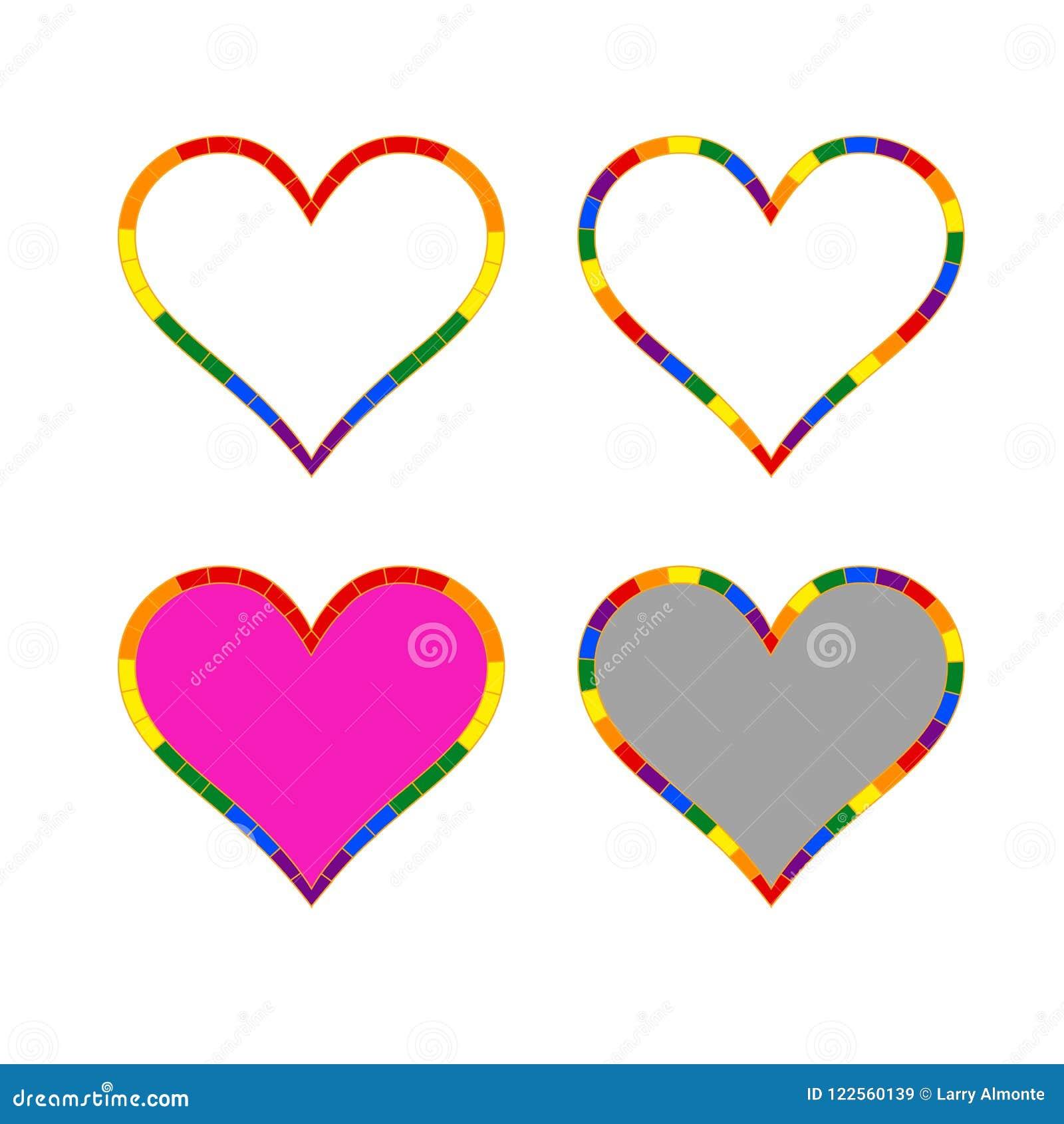 LGBT-hjärtasymbol för den konstiga gemenskapen