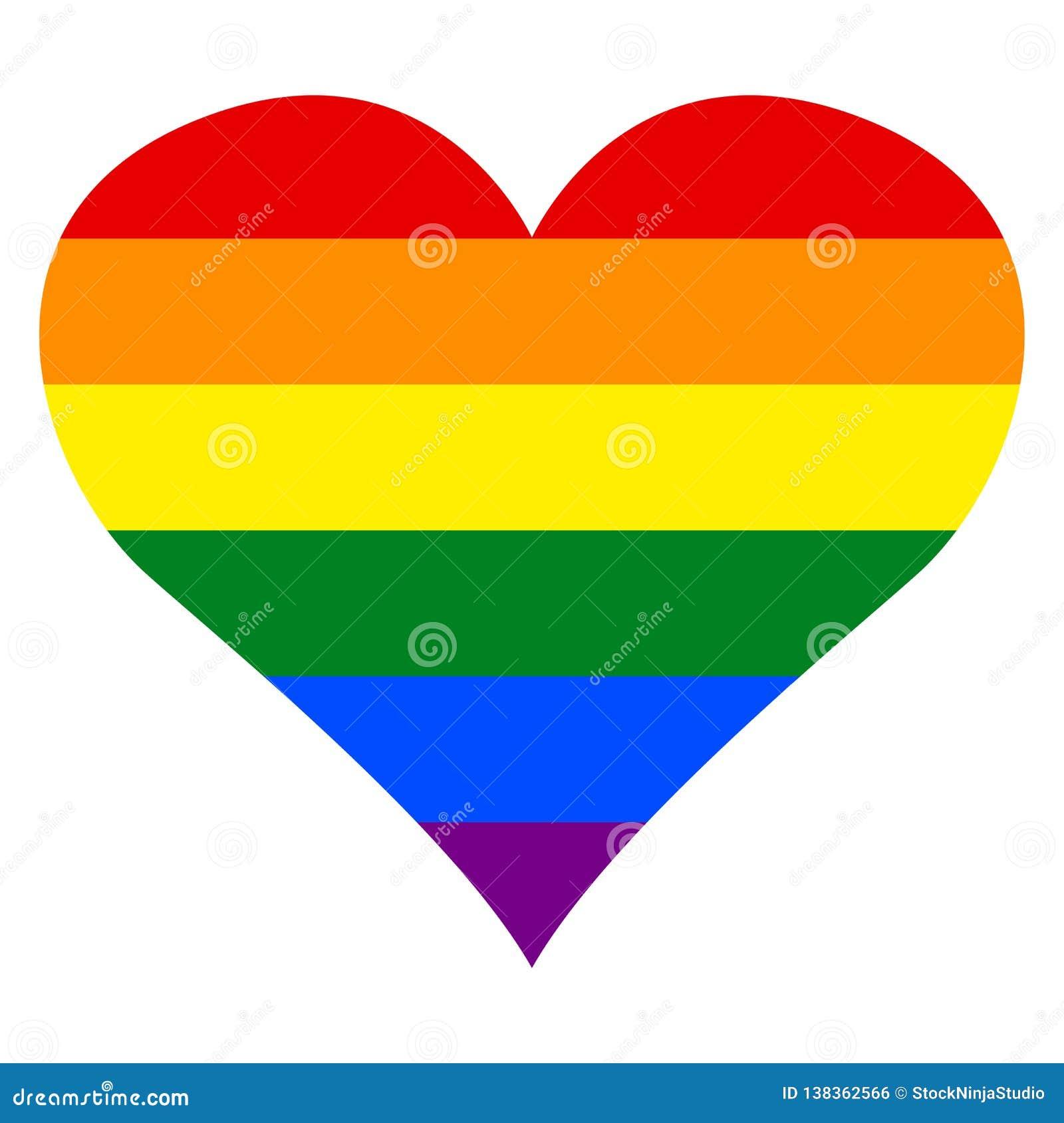Lesbian, gay, bisexual, transgender LGBT pride heart