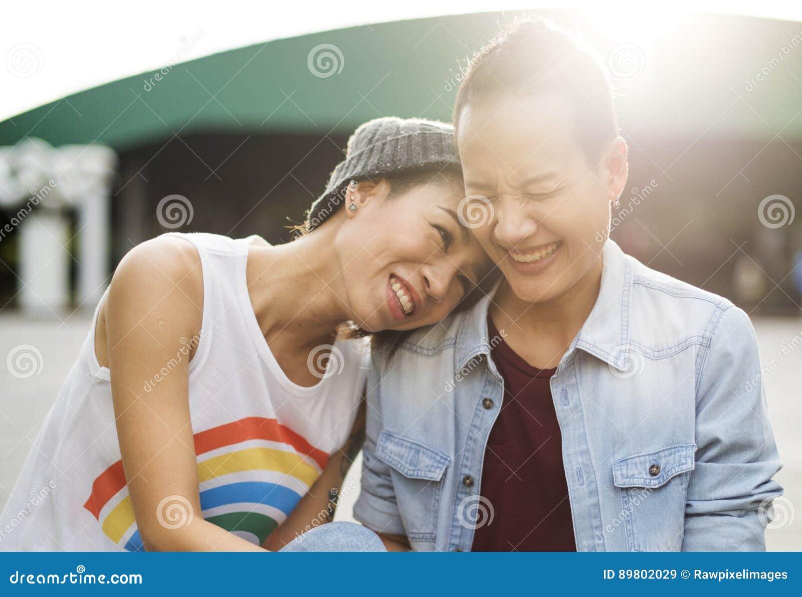 LGBT pary momentów szczęścia Lesbijski pojęcie