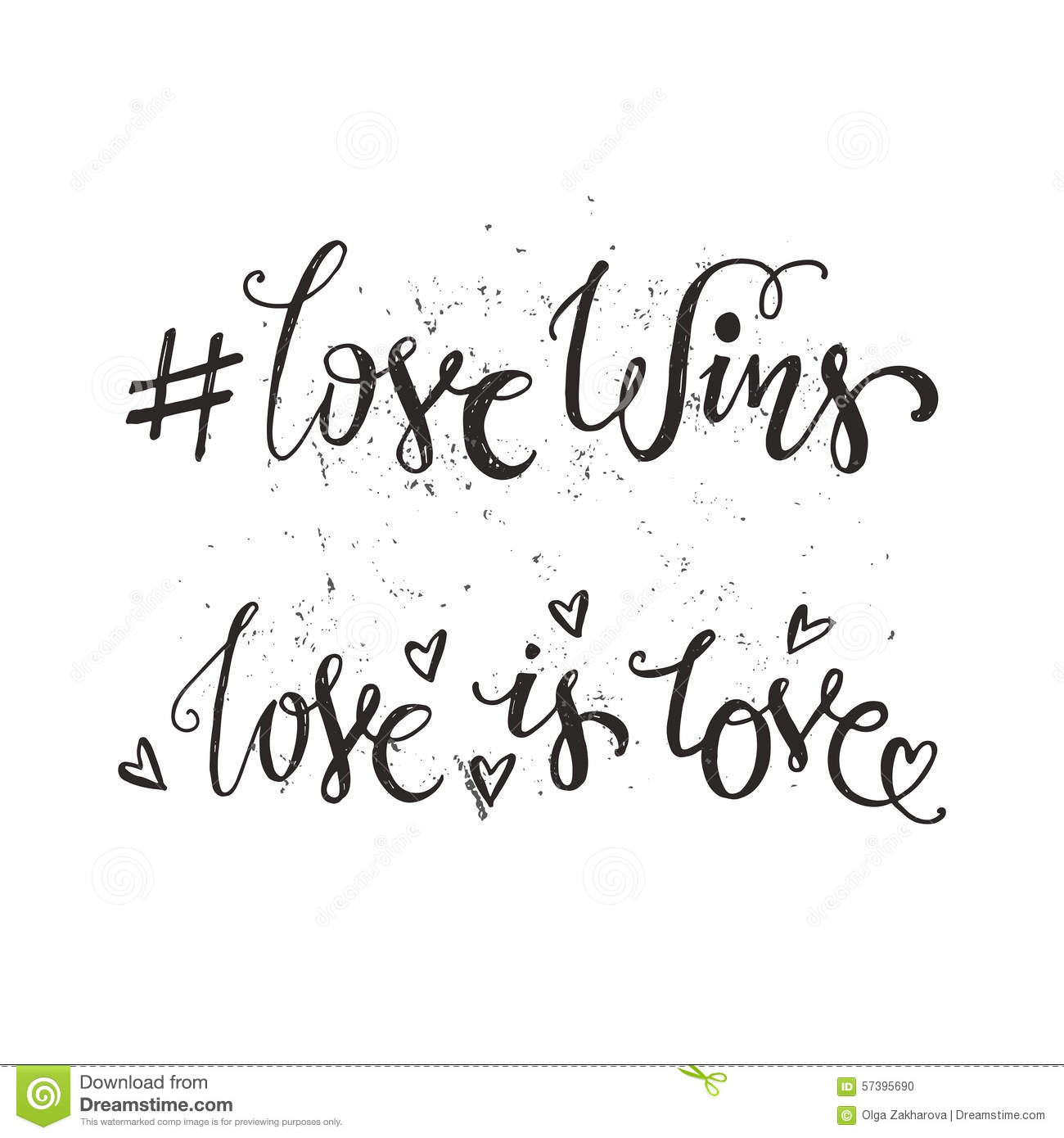 Handdrawn quotes - Love Wins and Love is Love. LGBT community design ...