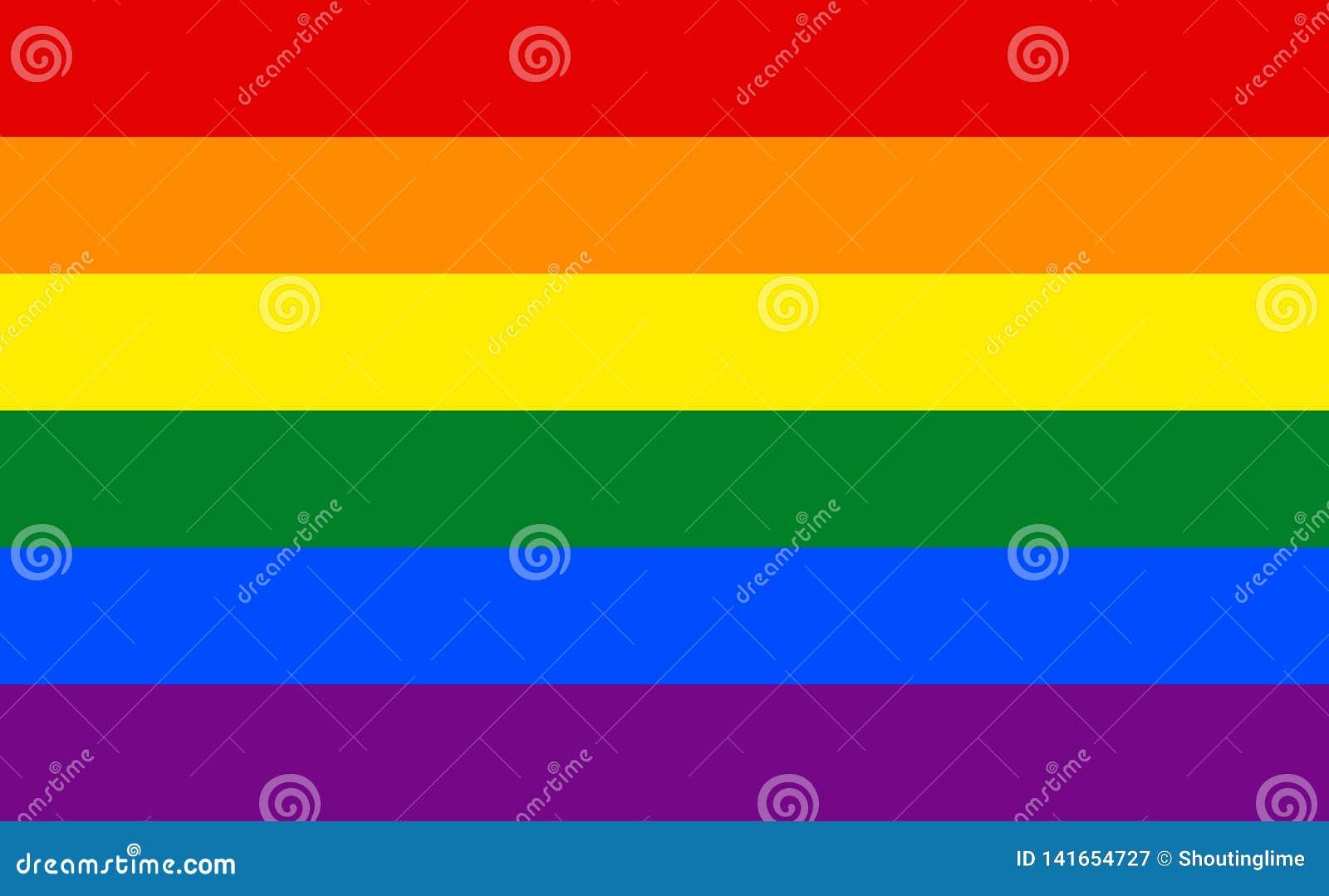 LGBT rainbow flag isolate banner print flat
