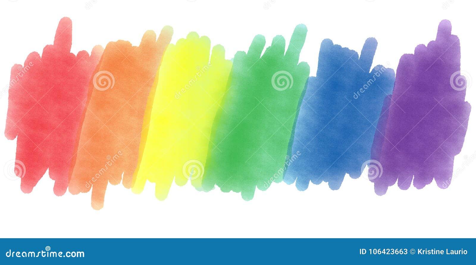 LGBTQ自豪感水彩