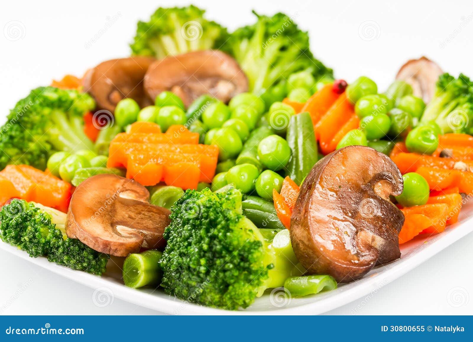 Légumes Cuits à La Vapeur Photo libre de droits - Image