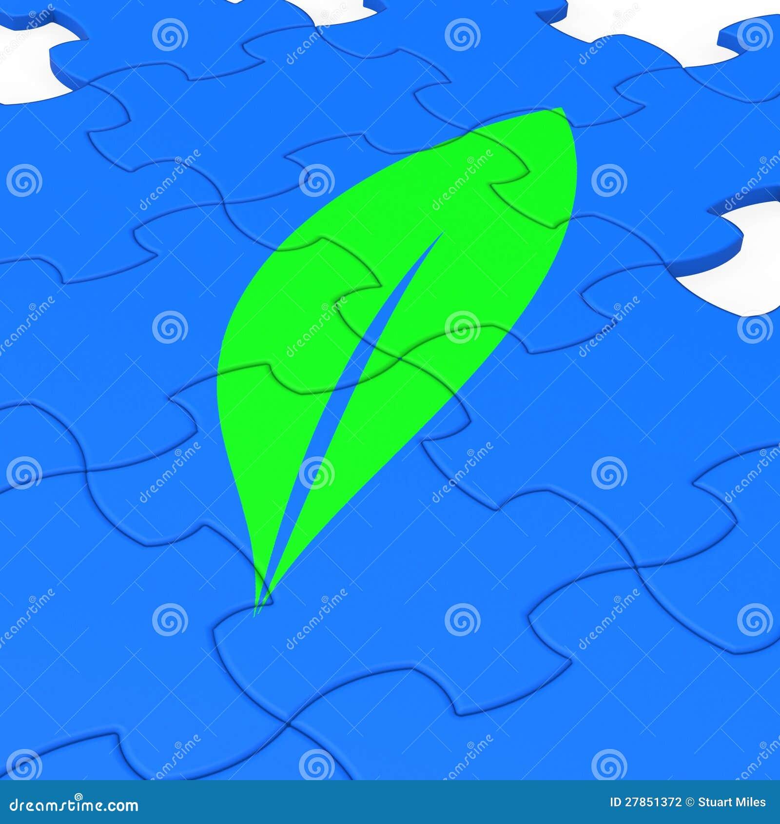 Liść Znaka Łamigłówka Pokazywać Ekologię