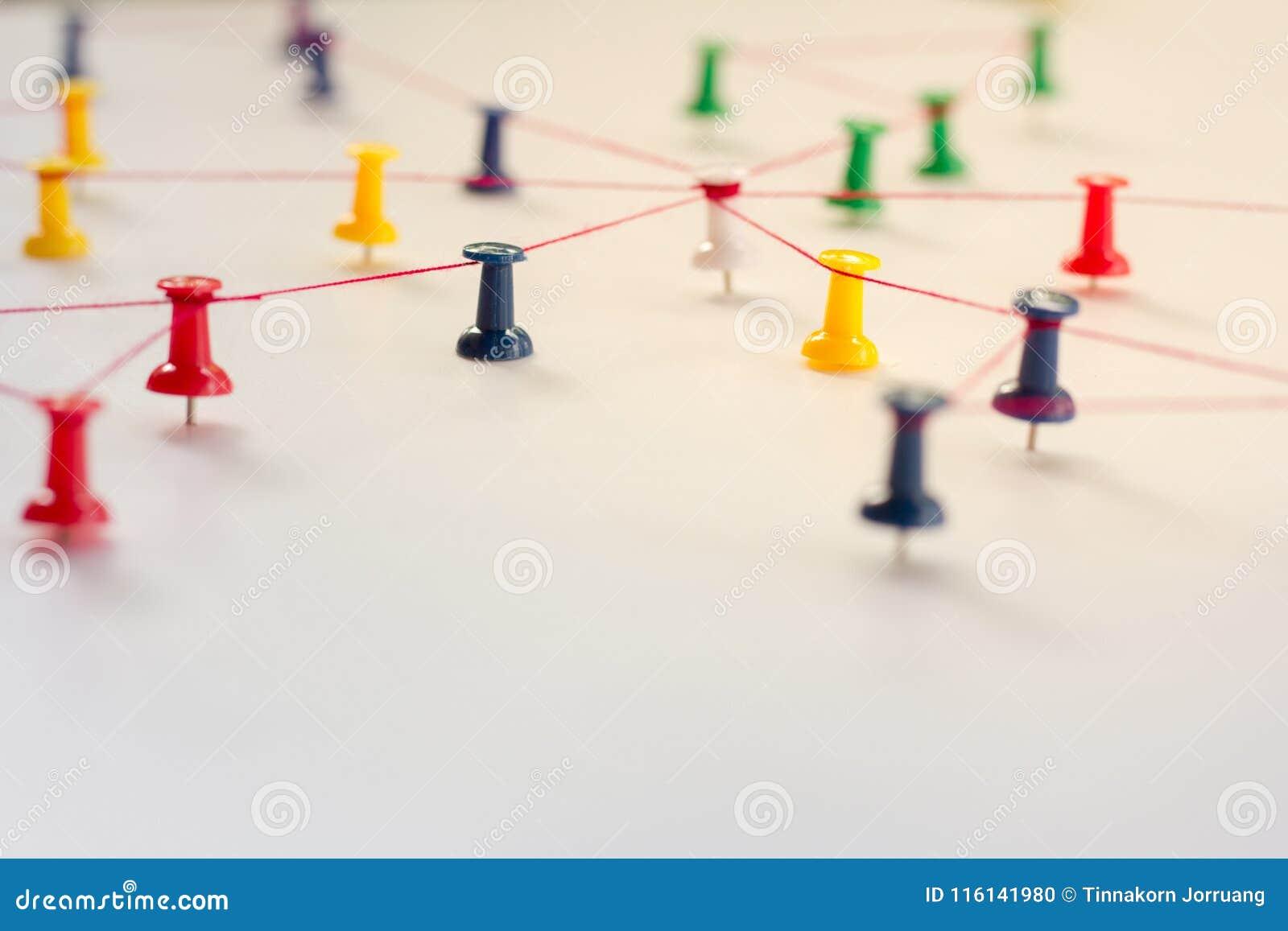 Liant des entités, simulation de réseau, media social,