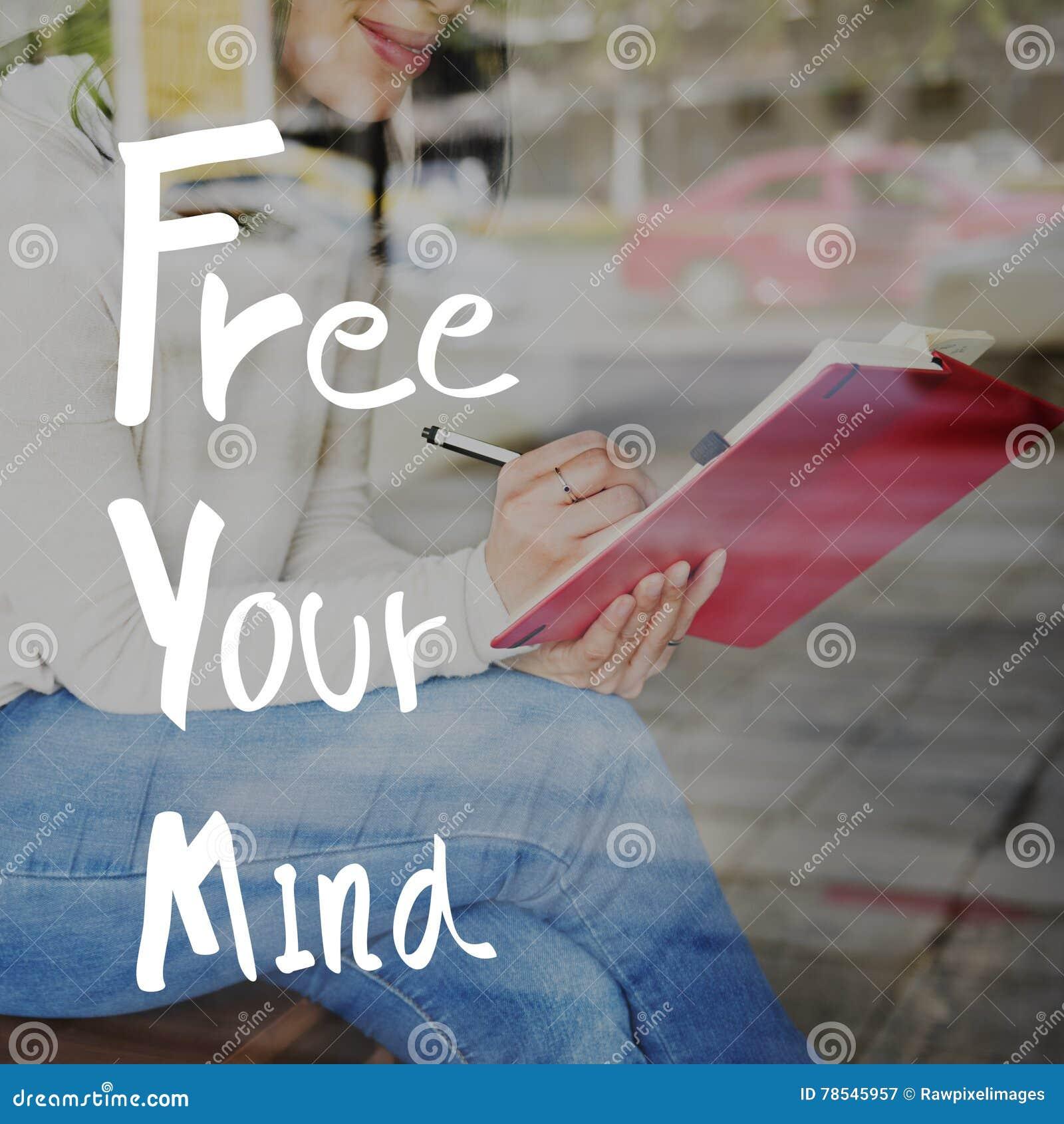 Libérez votre concept positif de froid de relaxation d esprit