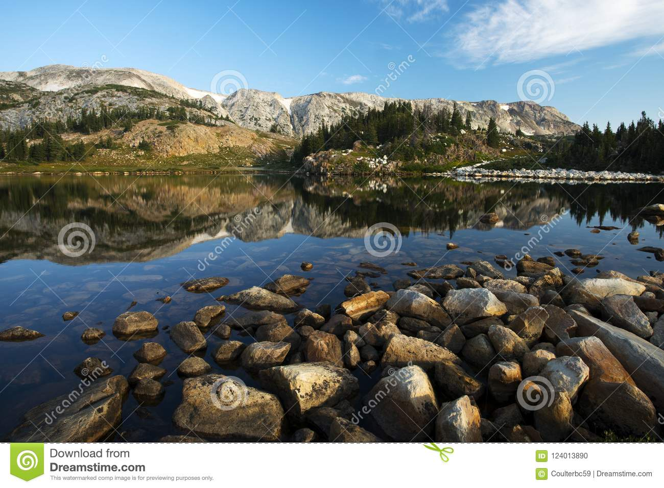 Libby Lake in Medicine Bow National Forest