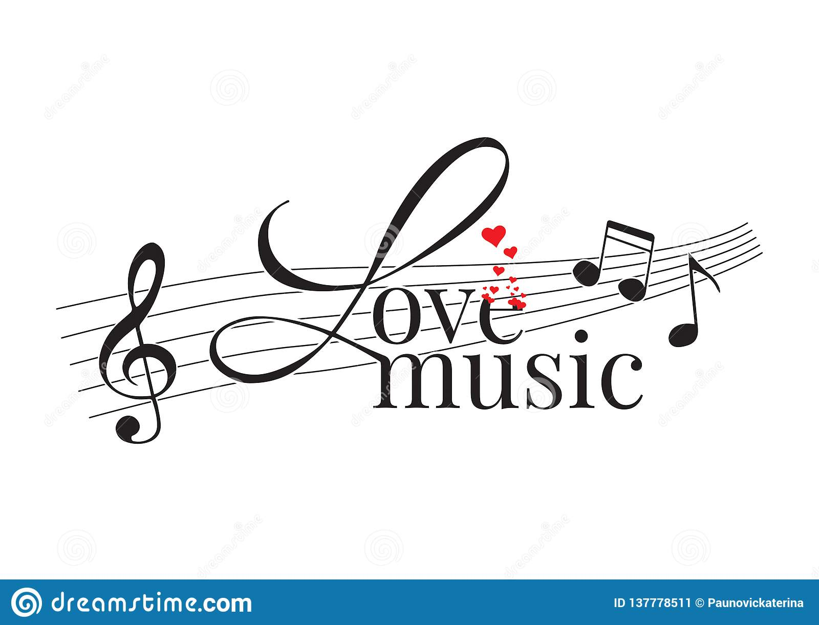 Libellé de la conception, musique d amour, décalques de mur