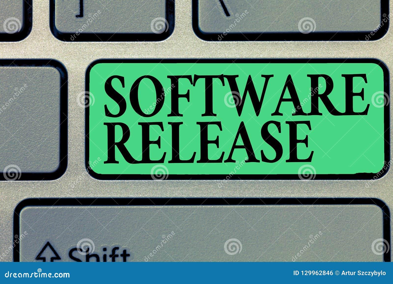 Liberação de software da escrita do texto da escrita Conceito que significa a soma das fases do desenvolvimento e da maturidade p