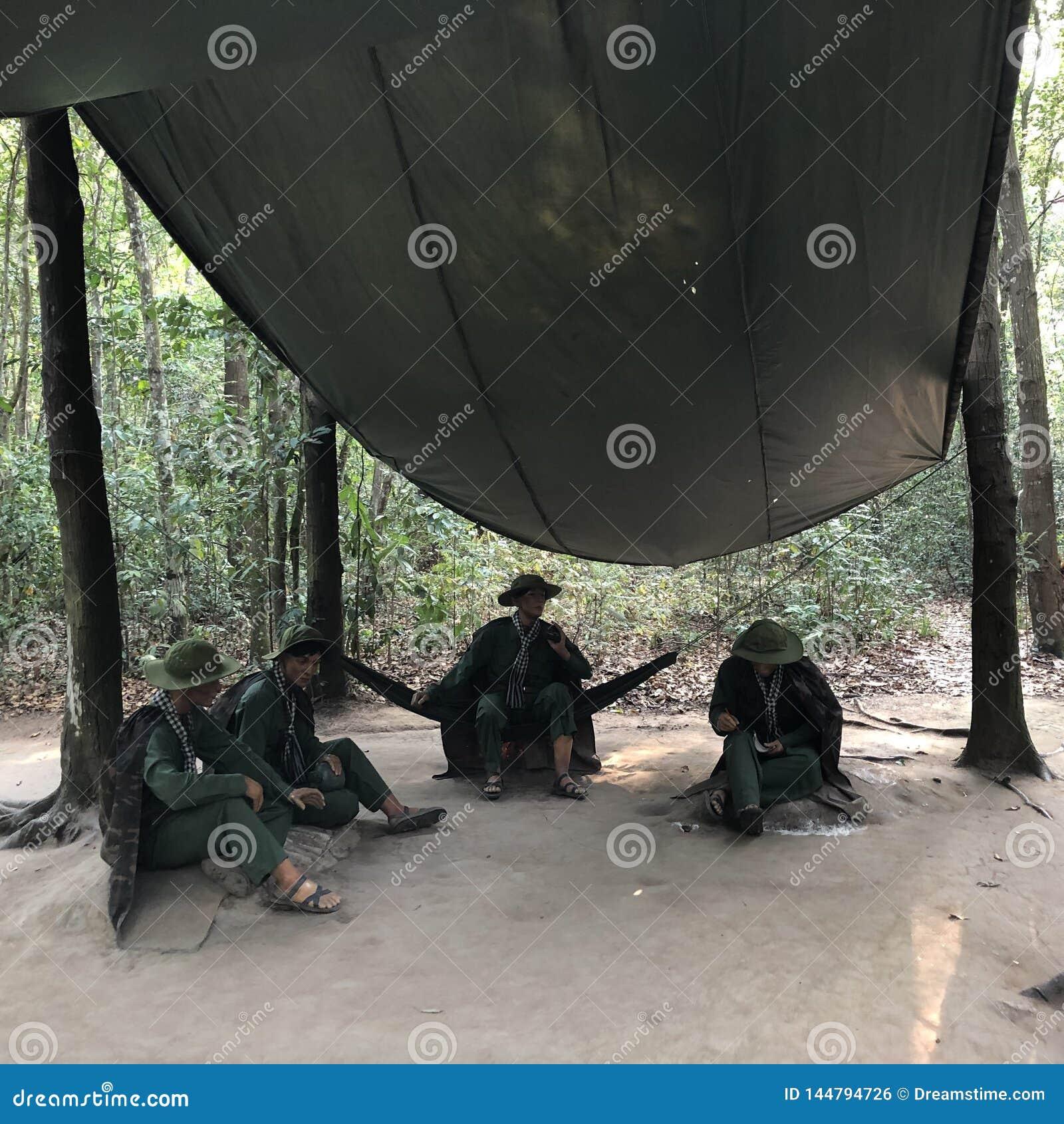 Liberaal gebied in Cuchi om de invasie van de troepen van de V.S. te verhinderen