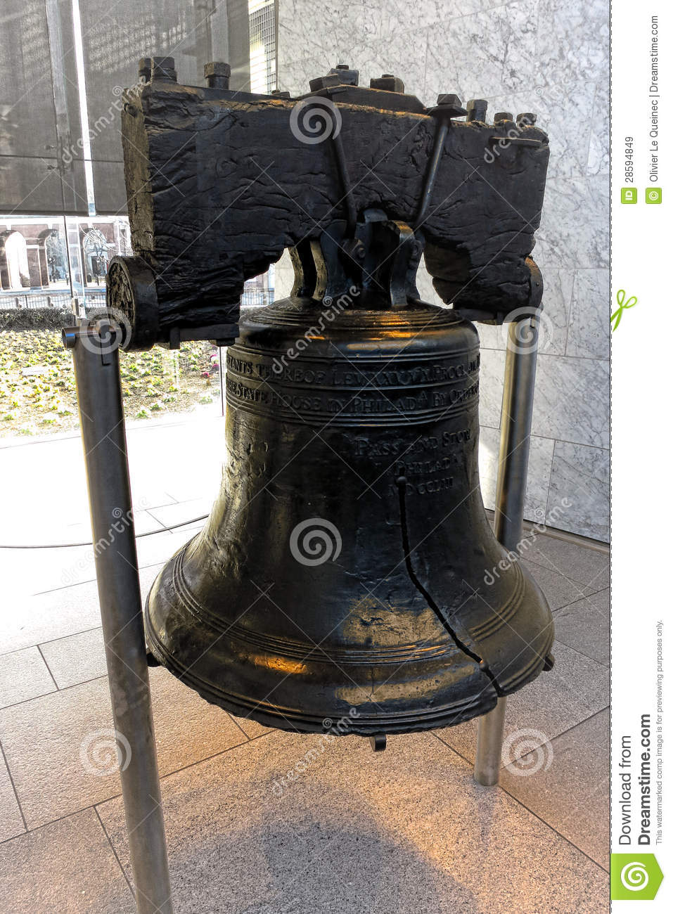 Liberty Bell At Independence Mall In Philadelphia Royalty Free ...