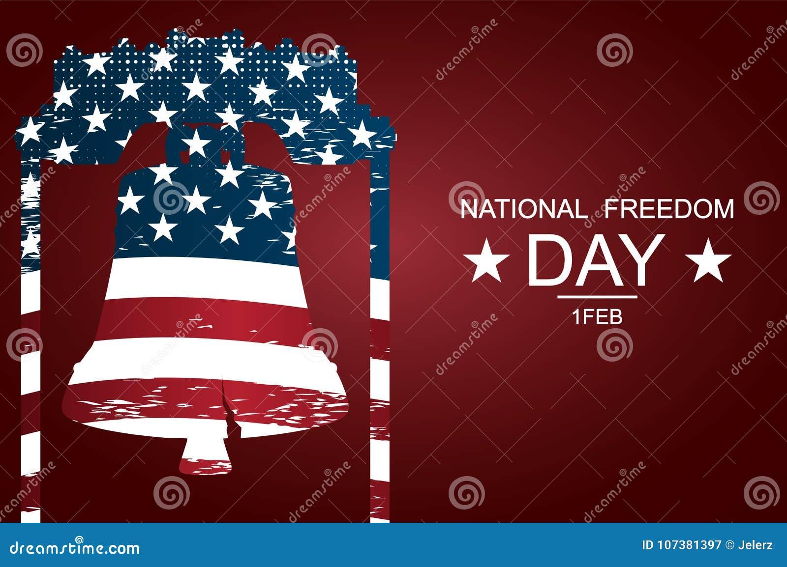 Liberty Bell jako symbole wolność i sprawiedliwość dla Krajowego wolność dnia Plakata lub sztandarów †na Krajowym wolność dniu