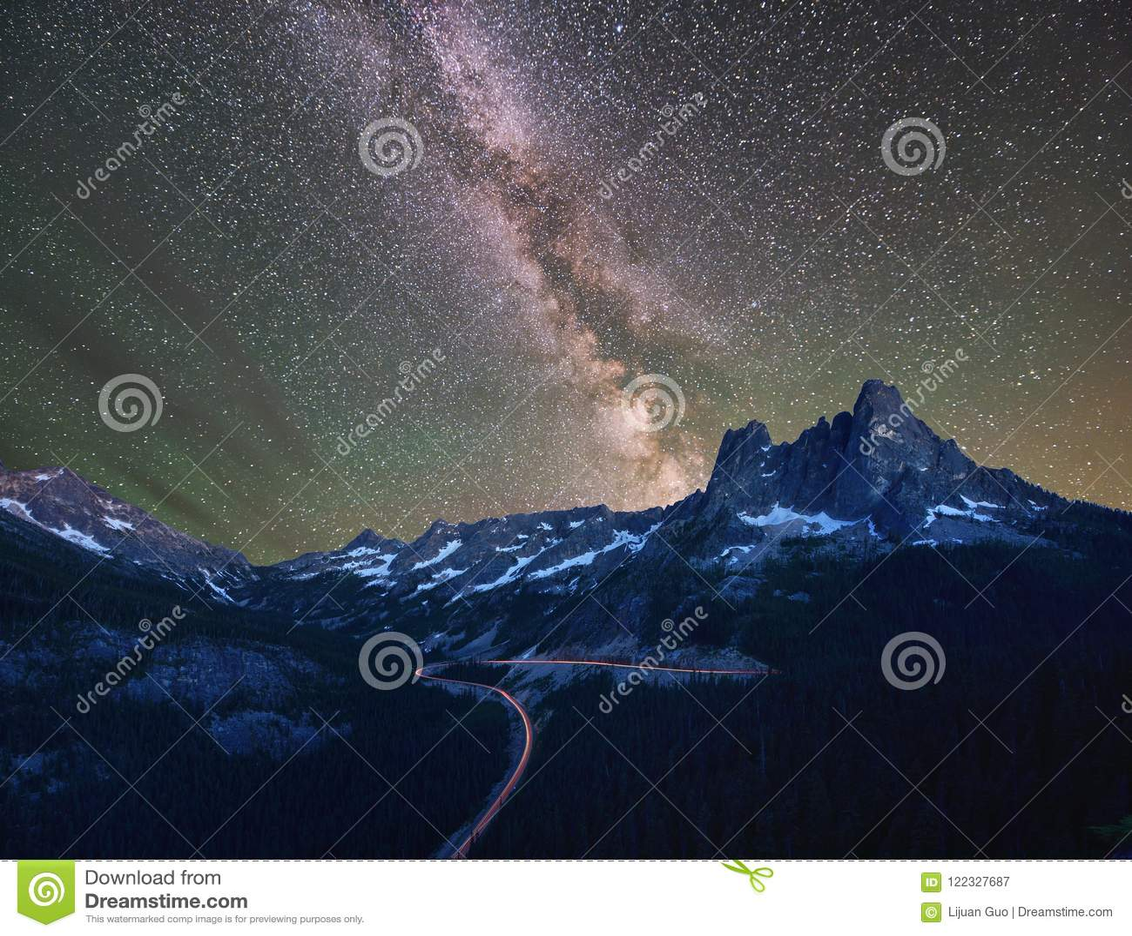 Liberty Bell and Kangaroo Ridge with Milky Way and Mars