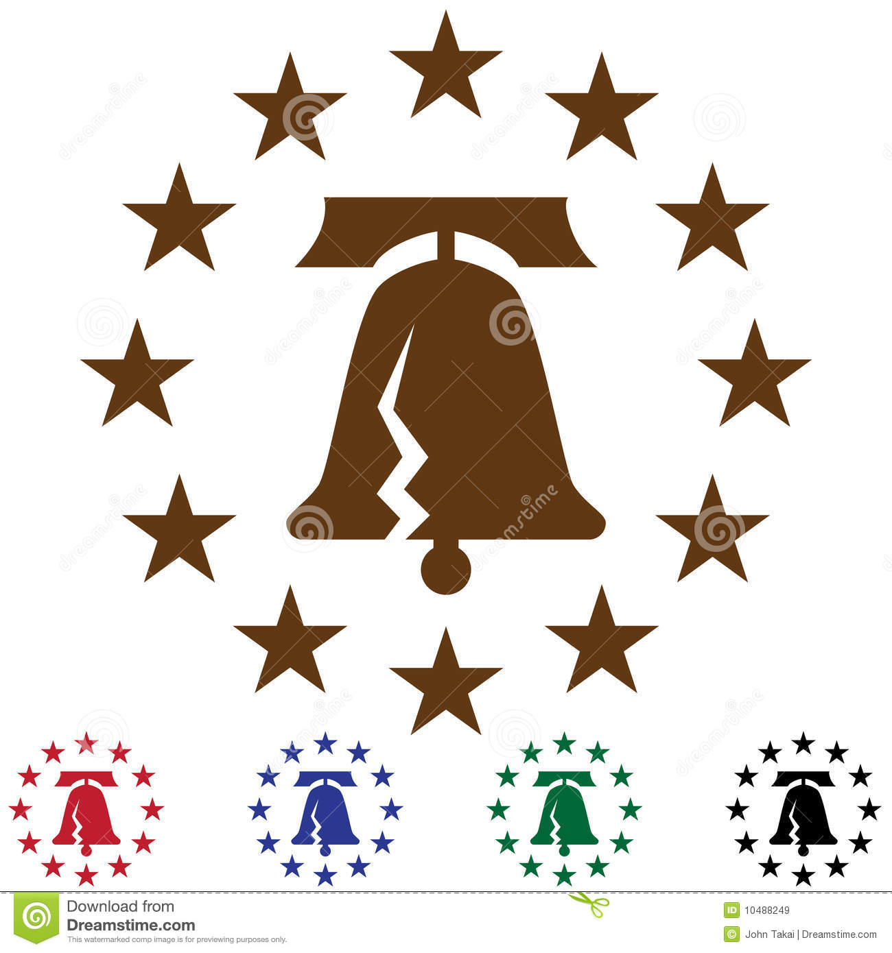 Liberty Bell With Stars Royalty Free Stock Images - Image: 10488249