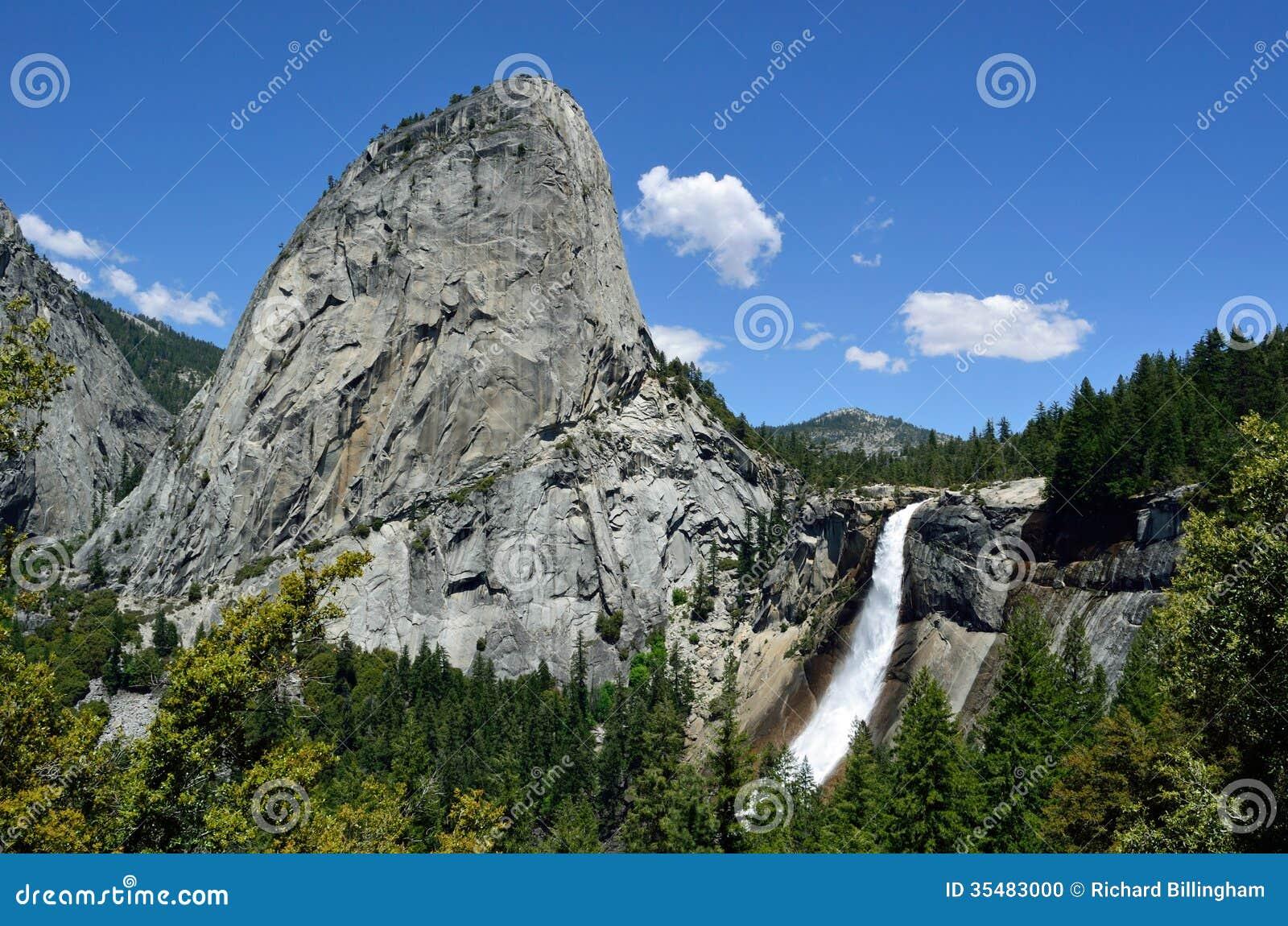 Liberty Cap & Nevada Fall, Yosemite, Californië