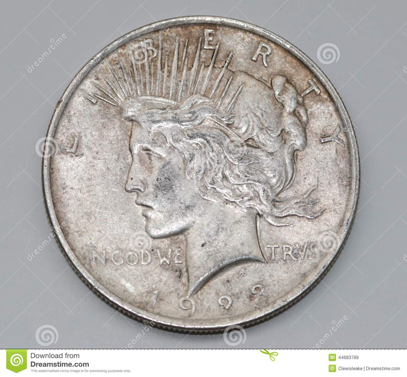 Liberty Peace Dollar Editorial Stock Image Image Of Funds 44683789