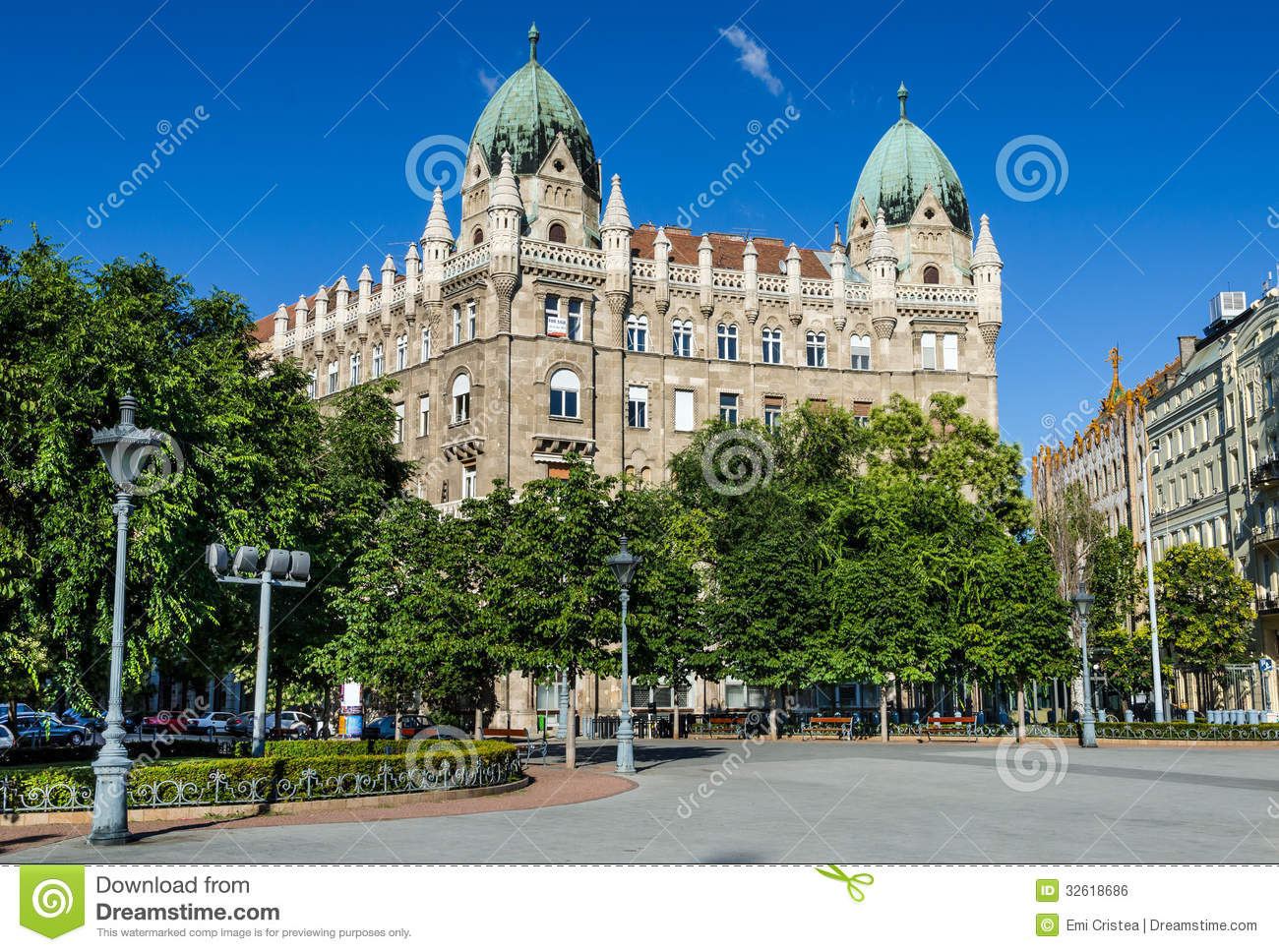 Liberty Square In Budapest Stock Photo Image Of Culture
