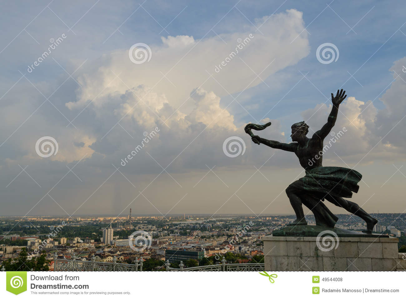 Liberty statue in Budapest